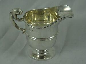 SOLID  silver MILK JUG, 1902, 58gm