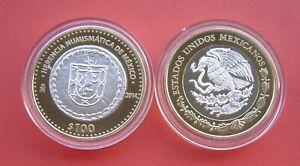 Mexico 2014 Oaxaca royalist coin 100 Pesos Bi-metallic (.925 Silver center)