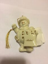 Lenox My Very Own Snowman ornament personalized Michael