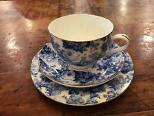 Maxwell and Williams 'Antique Blue' Cup, Saucer and Plate Set