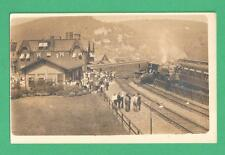 1913 RPPC POSTCARD PENN. RAILROAD WRECK AT DEPOT BLAIR COUNTY TYRONE, PA