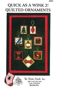 Quilted Christmas Ornaments & Stocking UNCUT Sewing Pattern The Violet Patch Inc