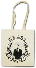 ANONYMOUS GLOBE LOGO Shopper Shopping Bag We Are Guy For Fawkes V Vendetta
