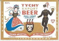 POLAND Browar Tychy Export folk,woman beer label C1636