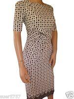 New Ex M&S Black & White Short Sleeve Diamond Print Shift Dress Size 6 - 18