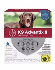Bayer K9 Advantix II for Extra Large Dogs over 55 lbs, 4 Monthly Doses