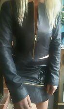 AJE Leather & Pony Hair Skirt Sz 8