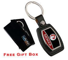 Vauxhall Viva Enamel and leather key ring