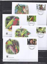 Cook Islands 2010 - FDC - Vogels/Birds/Vögel  WWF/WNF