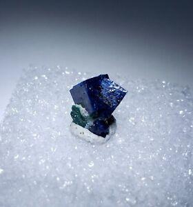 ***SWEET-Blue Twin Boleite Crystal on matrix, TN Amelia Mine Baja Mexico***