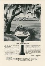 1947 Southern Railway Ad Old South Blends With New Land of Opportunity Railroad