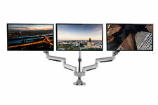 TechOrbits Triple Monitor Mount Stand Dual Computer Screen Desk Gas Spring Arms