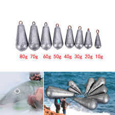 5× Drop Shot Water Droplets Finesse Weight Lead Sinker Terminal With Rigs K7u 10g