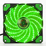 3-Pin/4-Pin 120mm LED Grün Gehäuse-Lüfter/Fan Mit Quad 15 LED Green Light
