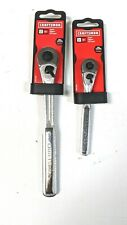 "TWO NEW  Craftsman 3/8"" & 1/4""  Dr. Quick Release Chrome Ratchets - Free Ship"