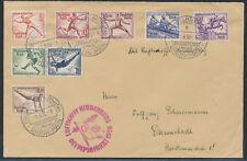 Zeppelin Olympiafahrt 1936 Satzbrief Olympische Spiele (S14844)
