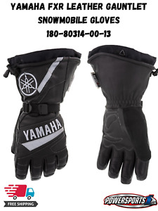 YAMAHA FXR WINTER SNOWMOBILE LEATHER GAUNTLET GLOVES SIZE LARGE 180-80314-00-13