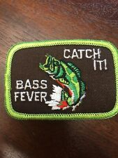 New Bass Fever Patch embroidered iron Or Sew On Large Mouth Patch 3�x2�