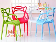 1:6 Dollhouse Miniature Art chair  Armchair Wholesale 4PCS For Barbie BJD