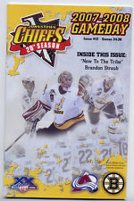 Johnstown Chiefs ECHL Hockey Program 2007-08 Issue #12 Bruins Avalanche Superb!