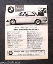 O450 - Advertising Pubblicità -1963- BMW , ELENCO CONCESSIONARI IN ITALIA
