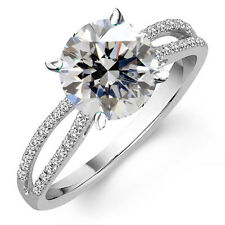 3.74ct D-h color vvs1 White Engagement Gorgeous .925 Sterling Silver Ring Size 7