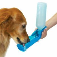 Pet Dog Cat Outdoor Travel Water Bowl Bottle Feeder Drinking Fountain 250ML New