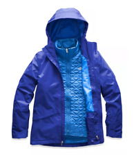 Women's The North Face Blue Thermoball Snow Triclimate 3 in 1 Jacket New