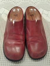 Think!  Red Slip Mule Clogs Women's Leather Shoes from Italy Size 38.5/7.5-8