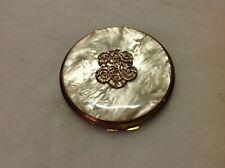 New listing Vintage Estee Lauder Honey Glow Powder Compact Mop ornate