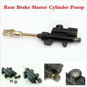 10MM Black Metal Rear Brake Master Cylinder Pump For Motorcycle Dirt Bike ATV