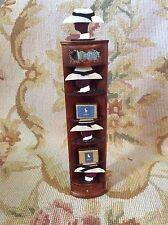 Bespaq/Pat Tyler Dollhouse Miniature Men's Shop Dressed W/Hat Shelf Cabinet p300