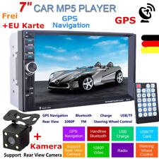 "Autoradio MP3 MP5 Media Player 7"" GPS Navigation 2DIN AUX/USB/SD/BT/FM w/Kamera"