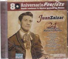 CD - Juan Zaizar 80 Aniversario Peerless 24 Temas Con Mariach Banda - NEW !