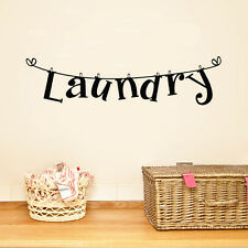 Laundry Wall Sticker Removable Wall Paper Washhouse Decal Quote Vinyl Art Decor