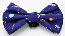 Geniusgogo Removable Printed Soft Dog/Pet Bow Tie Attaches to Collars-Galaxy