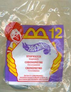 2000 McDonald's Happy Meal Toy Hot Wheels #12 Stop Watch - Unopened