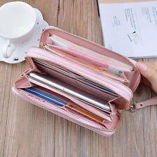 Portemonnaie Geldbörse Damen Double Reißverschluss Brieftasche Portmonee Großes