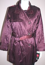 NWT GALLERY Woman Purple Wine Color Coat Plus Size 2X