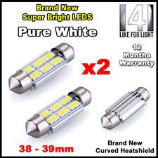 2 Piezas De 6 Led Smd 39mm 239 272 Canbus No Error Blanco Puro número de matrícula Bombilla de luz