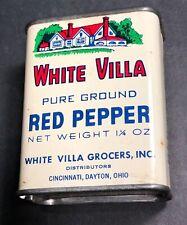White Villa Red Pepper Spice Tin Cincinnati Dayton Ohio