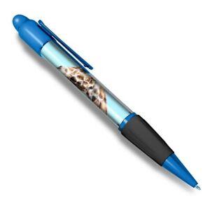 Blue Ballpoint Pen - Giraffe Head Wild African Animals Office Gift #21596