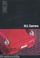 Prospekt Porsche 911 Carrera TechArt 1994 1 Bl. brochure Autoprospekt prospectus