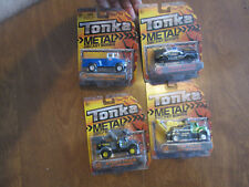 TONKA DIE CAST BODIES VINTAGE CARGO CARRIER , POLICE FORCE , UTILITY & TOW TRUCK
