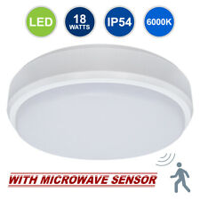 18W LED Round Surface Mount FLUSHLIGHT Ceiling Light IP54 with Microwave Sensor