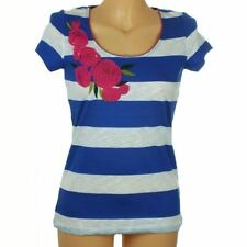 Viscose Regular Size Striped Short Sleeve T-Shirts for Women