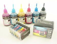 NON-OEM Refillable Cartridges For Epson 98 99 Artisan 700 710 830  + 600ml ink