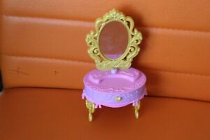 Pink Little Make Up Table yellow Mirror Open Drawer Petite Toy kids Table Girls