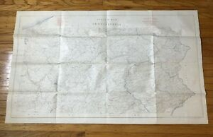 VINTAGE ORIGINAL PA STREAMS MAP - CIRCA 1956-1959 - EXCELLENT
