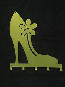 Wandgarderobe Wandhakenleiste PUMPS m. 5 Haken Farbe: grün, 32 x 30,6cm